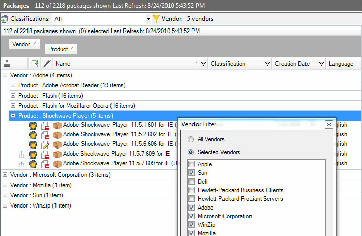Software updates sccm 2007 patches