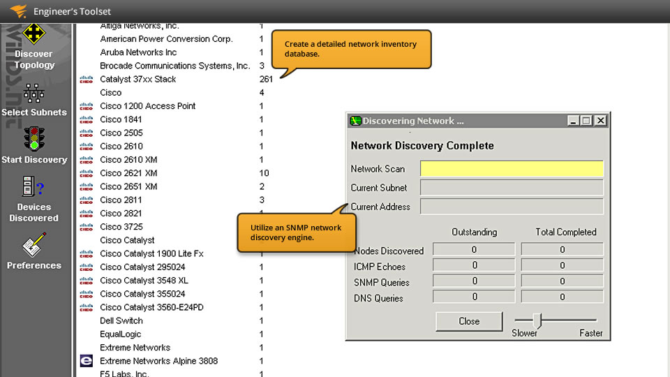 View of how MAC address scanning and discovery works
