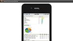 Screenshot of network performance viewing capabilites from your mobile device.