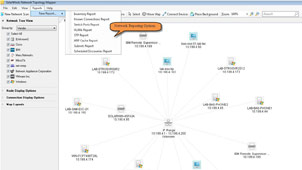 View of generated network mapping report.