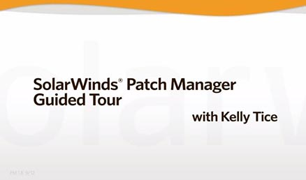 Screenshot of guided tour of SolarWinds' patch management software
