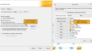 Screenshot of multi-level network discovery.