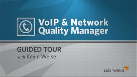 Screenshot of VoIP QoS software walk through video.