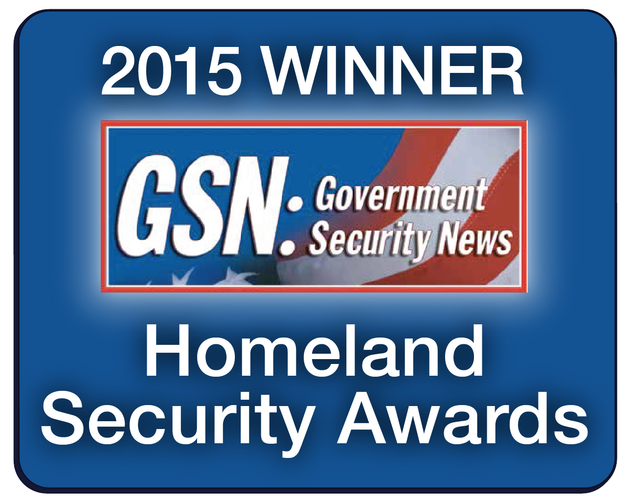 GSN Homeland Security Awards 2015 Winner