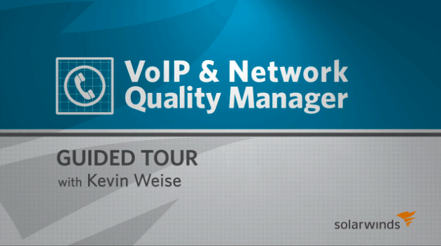 Video - VoIP & Network Quality Manager guided tour