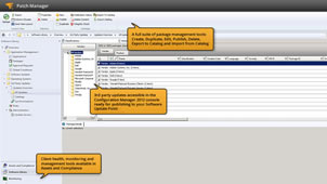 View of extended SCCM with SolarWinds' patch software