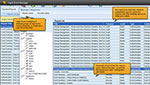 SolarWinds' SIEM security software view of out-of-the-box reporting capabilities.