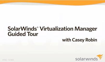 Screenshot of virtualization management software's video walk through guide.