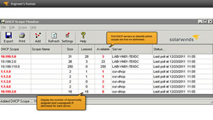 DHCP Scope Monitor