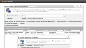 View of patch software's ability to manage patches on virtual desktops and servers